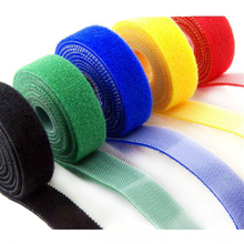 1meter self adhesive strong Short Hook and loop tape fabric Back to Cable Tie Nylon fastener organizer