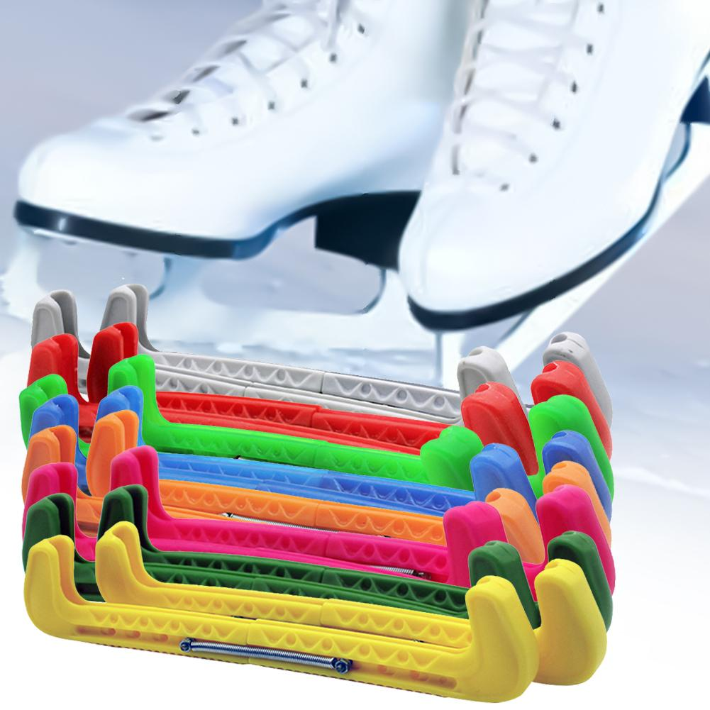 2pcs Adjustable Skate Shoes Cover Protective Blade Guard Protector With Spring For Ice Hockey Skating