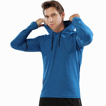 Herfst winter Running shirts Mannen Sport Lange Mouw Truien Sweatshirt Hoodies Slim Fit Mannelijke Gym Training Trui T-shirt(China)