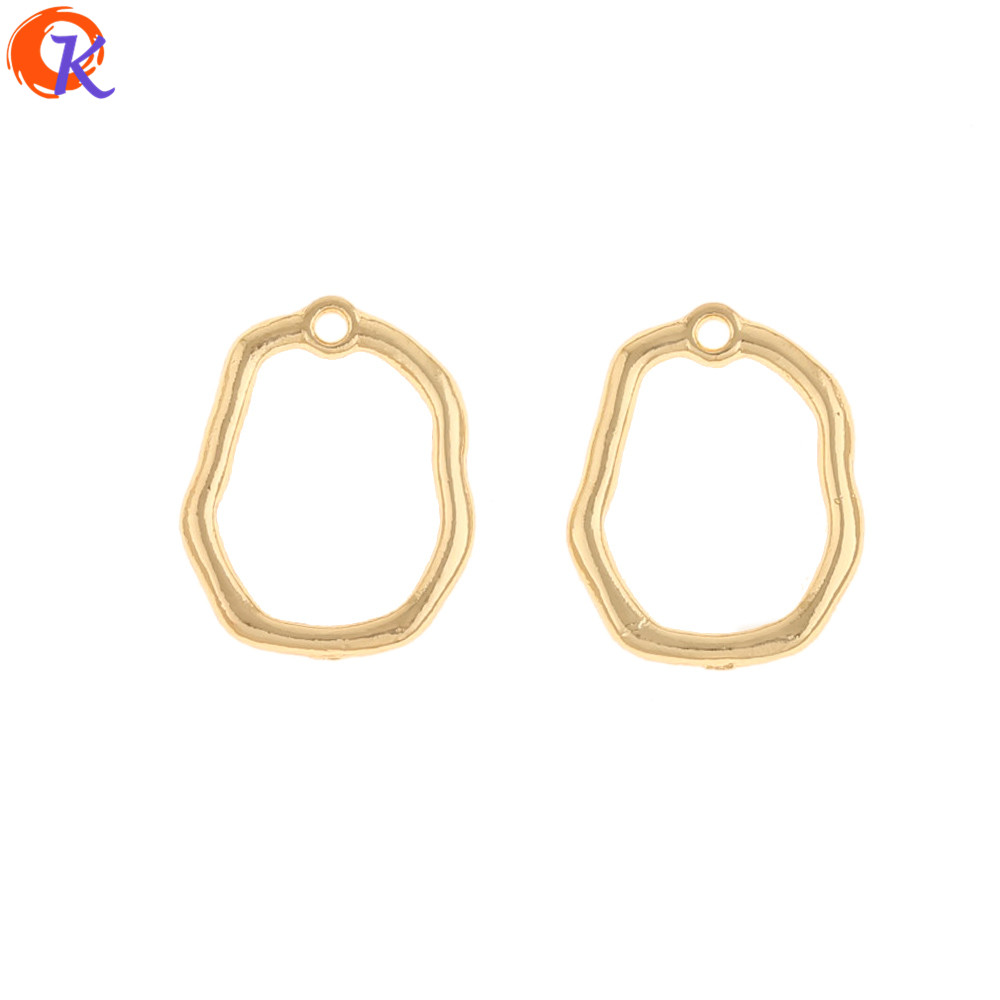 Cordial Design 100Pcs 15*19MM Jewelry Accessories/DIY Making/Hand Made/Earrings Connectors/Loop Shape/Earring Findings/Charms