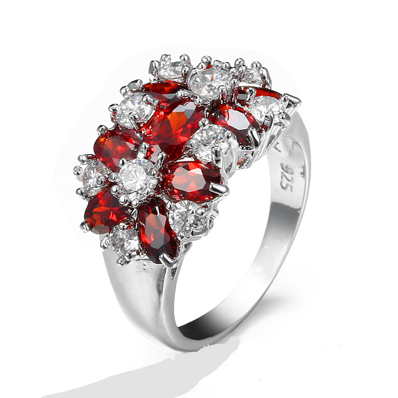 Red S925 Sterling Silver CZ...
