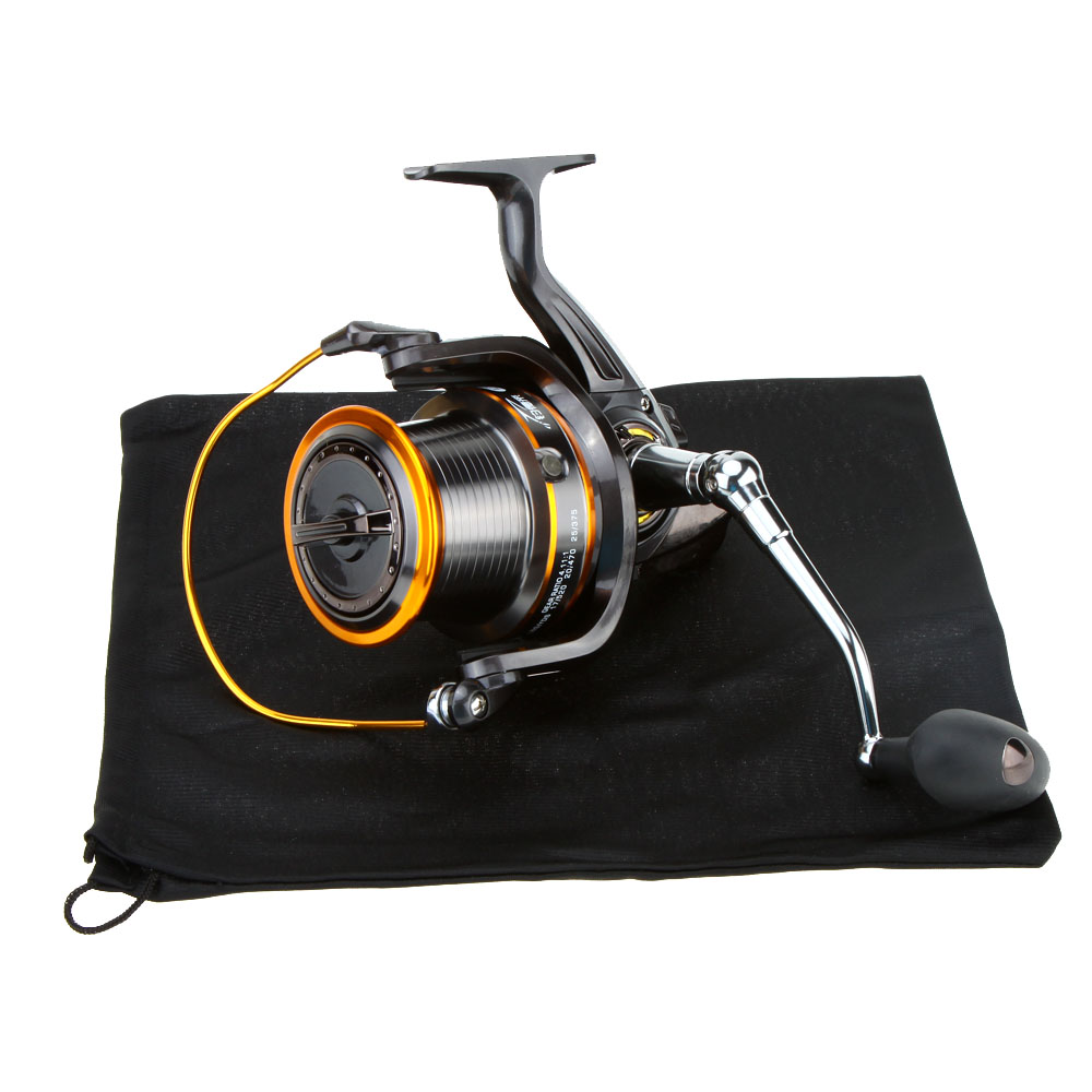 Fishing Reel 12+1BB 4.11:1 13Ball Bearings LJ9000 Super Big Sea Fishing Wheel Metal Spinning Fishing Reel Carp Fishing Accessory image