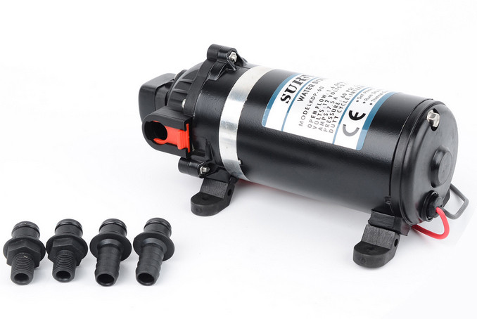 SURFLO KDP-80 General Purpose 12V DC Water Pump 6LPM Flow 80PSI Cut-off Pressure For Air Condition System, Agriculture, Washing