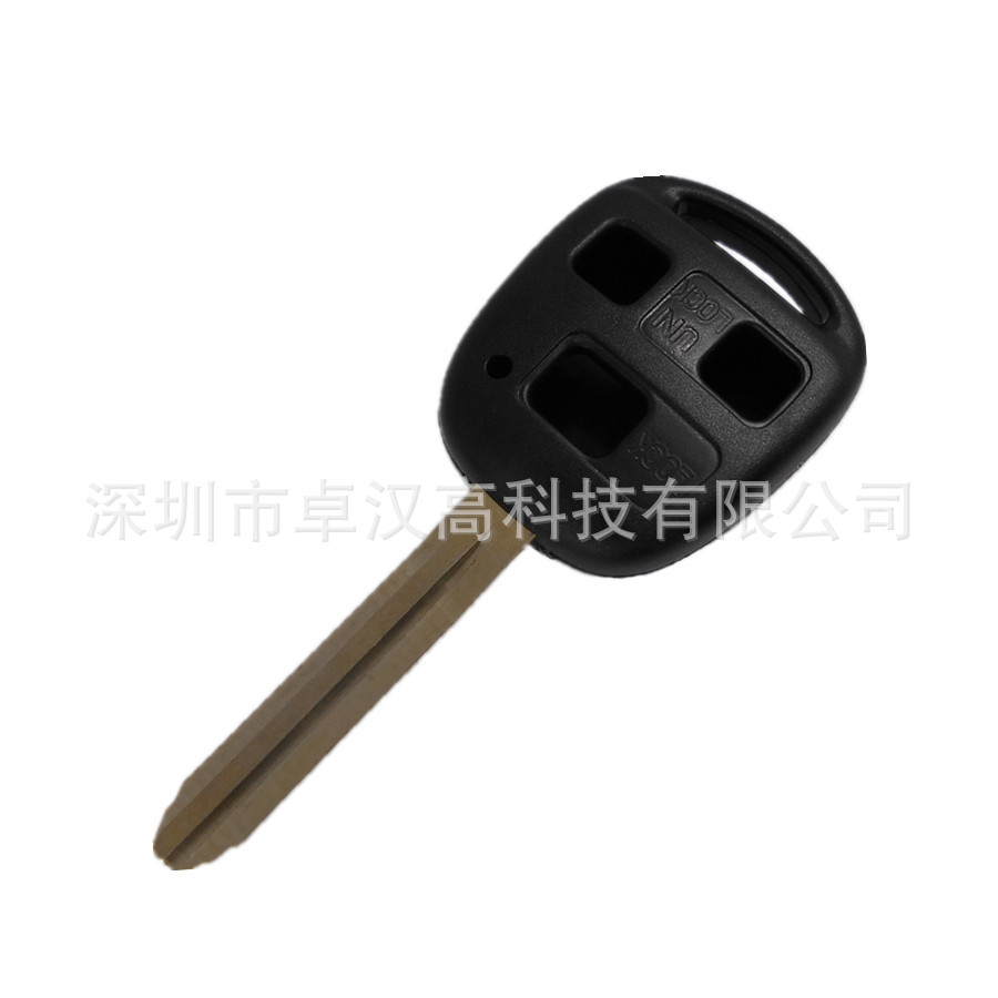 For Toyota Isis Lexus LX / GX Delta Instead of Original Factory Auto Car Key KETO 3 Buttons Change Car Key Shell