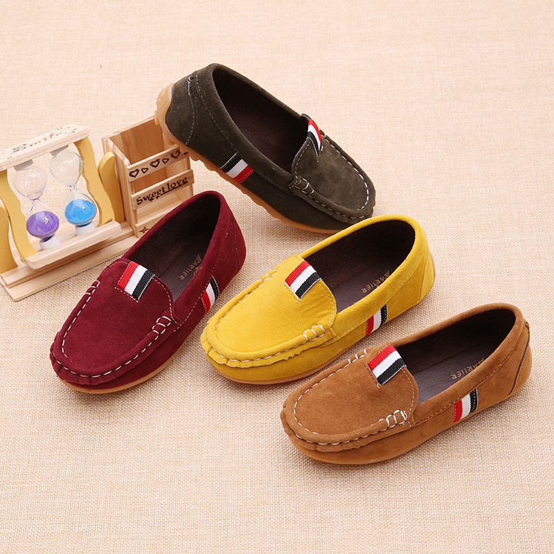2020 children's dance shoes sneakers spring children boys and girls casual leather peas shoes children's soft shoes comfortable