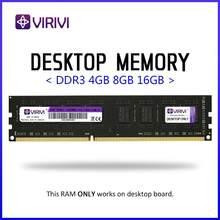VIRIVI – mémoire de serveur d'ordinateur, modèle DDR3, capacité 2 go 4 go 8 go, fréquence d'horloge Ram de bureau/1333/1600/800/2133 MHz, Ram, dimm, tension 2400 v, broches 240pin, compatible avec carte mère AMD/intel