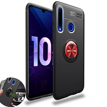 Magnetic Case For Honor 10 Lite Ring Shockproo Soft Silicon Case For Honor 10i 20i 10 20 Pro 20s 20i 9 Lite 8X 8A 7C Phone Cover ultra thin matte soft cover for huawei honor 20 phone cases 20 pro 20i 20s 10 lite slim tpu case for honor 10 lite 20 20pro 20i