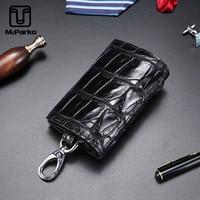 McParko Genuine Crocodile Leather Key Holder Home Key organizer Bag Men Luxury Crocodile Key Case For Male pouch