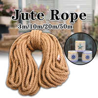 10mm 3-50m Jute Ropes Twine Natural Hemp Cord Rustic Country Craft DIY Handmade Accessories Nordic Home Decor Cat Pet Scratching