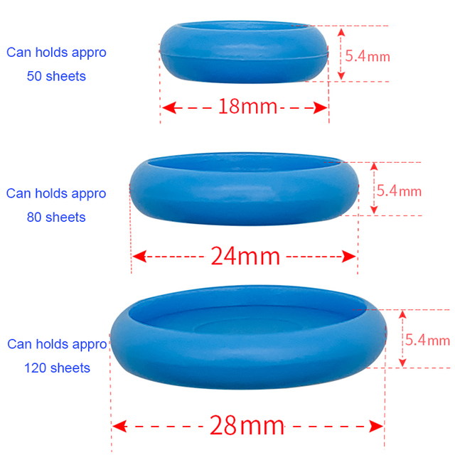 Fromthenon 50pcs/box Colorful Disc Binding Discs Rings for Mushroom Hole Discbound Planner Binder Notebook Binding Supplies