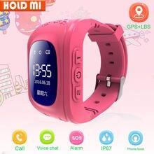 Q50 smartwatch inteligente criança segura relógio gps sos chamada localizador de localização rastreador bebê anti perdido monitor pedômetro reloj inteligente