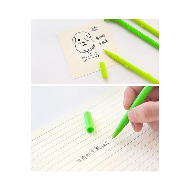 3pcs Cute Animal Green Tree Sloths Pen Ballpoint Black Color Ink roller ball Pens Writing Office Decoration School Student F977 5