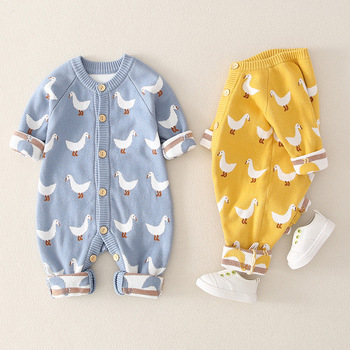 Baby Knitted Cartoon Rompers