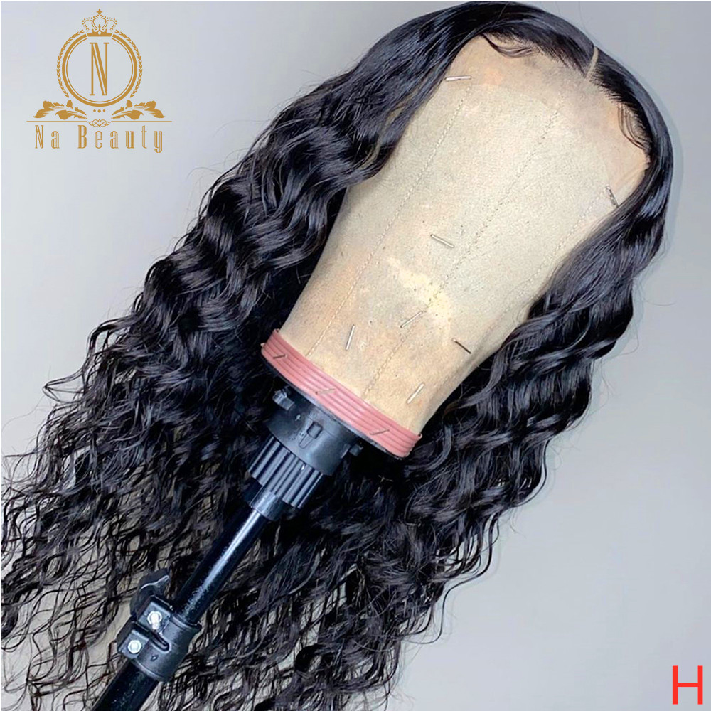 13X6 Transparent HD Lace Front Wig Brazilian Water Wave Human Hair Wigs Preplucked Natural Hairline For Black Women Nabeauty 180