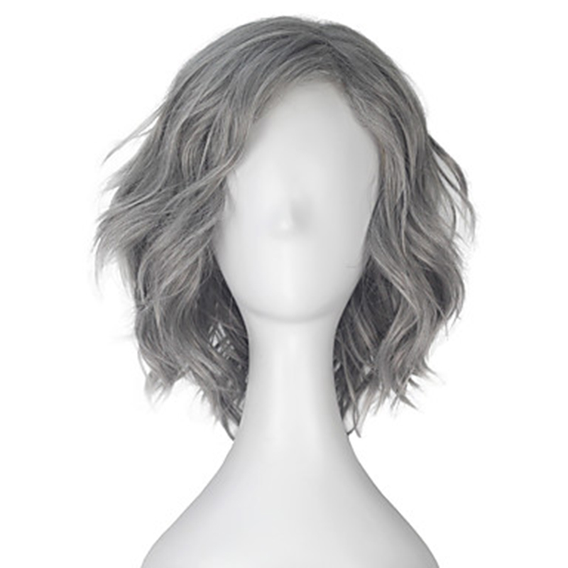 HAIRJOY Synthetic Hair  Curly Short  Grey Cosplay Wig Free Shipping