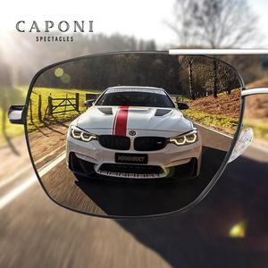 Image 4 - CAPONI فوتوكروميك نظارات الرجال الاستقطاب الكلاسيكية ماركة تصميم مكافحة راي ظلال القيادة مربع نظارات شمسية الرجال UV400 CP8724