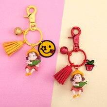 купить New Hayao Miyazaki Keychain Cute Cartoon My Neighbor Totoro Mei Action Figure PVC Doll Keyrings for Women Bag Pendant Jewelry онлайн