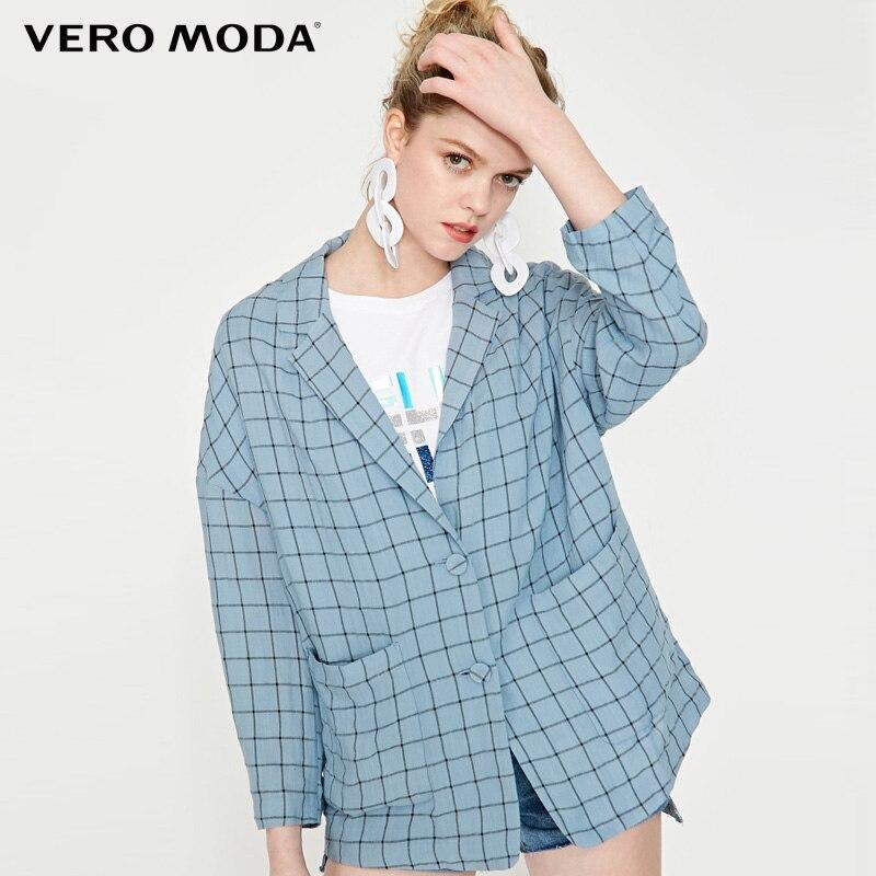 Vero Moda Women  Lapel Plaid Blazer | 319208517