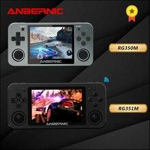 RG351M أنبيرنيك ريترو لعبة RG350M ألعاب الفيديو لعبة ps1 لعبة 64bit opendingux 3.5 بوصة 2500 + ألعاب RG351 المحاكي