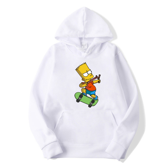 Casual The Simpsons Print Hip Hop long Sleeve Men s and Women s Funny hoodie Harajuku Sweatshirt Top