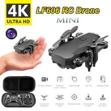 Lf606 Micro Uav 4k Camera Hd Optical Flow Positioning Gps Wifi Fpv Rc Folding Helicopter Quadcopter Educational Toy(China)