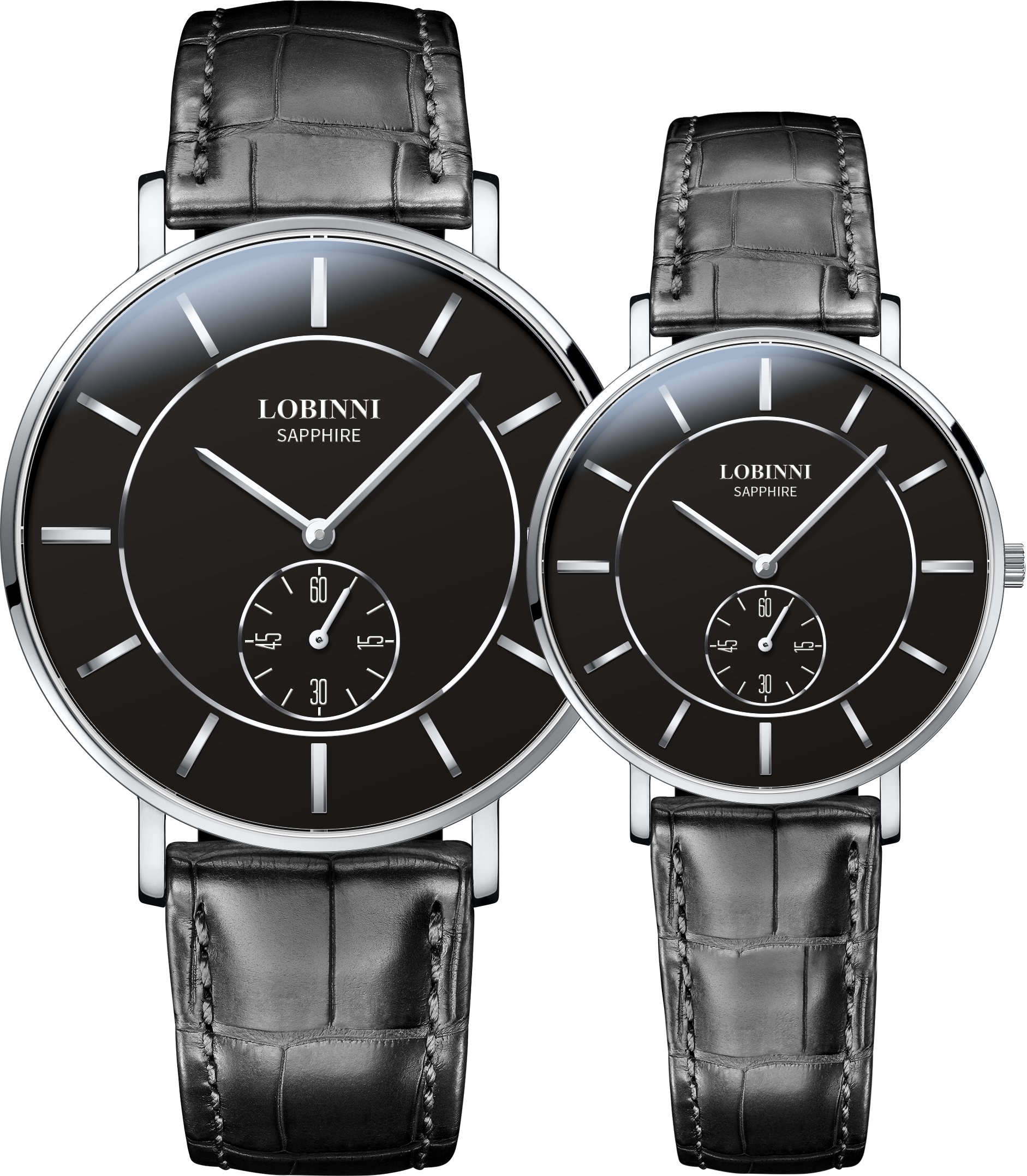 LOBINNI Lovers Watch Switzerland Luxury Brand Quartz Movt Couple Wirstwatches Sapphire Leather Male Female Relogio