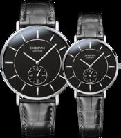 LOBINNI Lovers Watch Switzerland Luxury Brand Quartz Movt Couple Wirstwatches Sapphire Leather Male Female Relogio