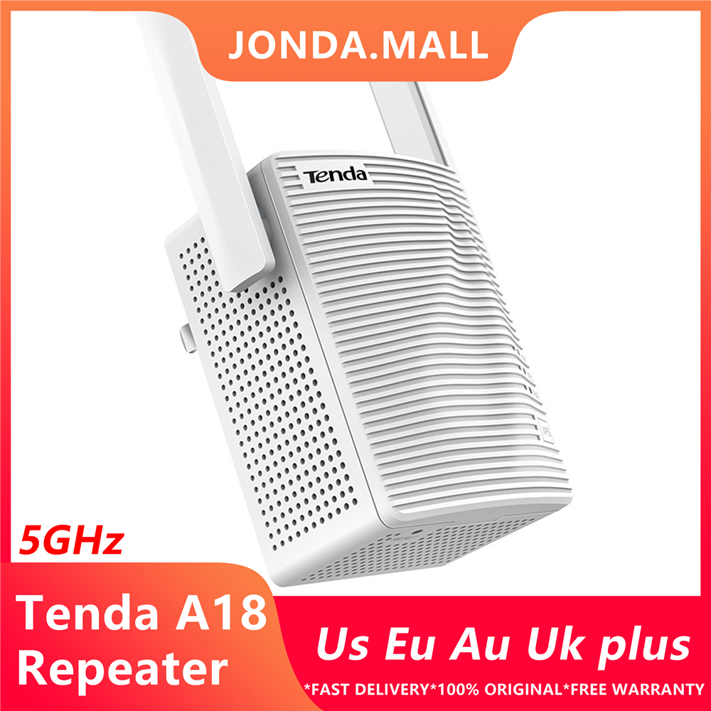 Tenda A18 AC1200 Dual-band WiFi Repeater 2.4G/5G Gigabit Wireless Router Range Extender With 2 External Antennas
