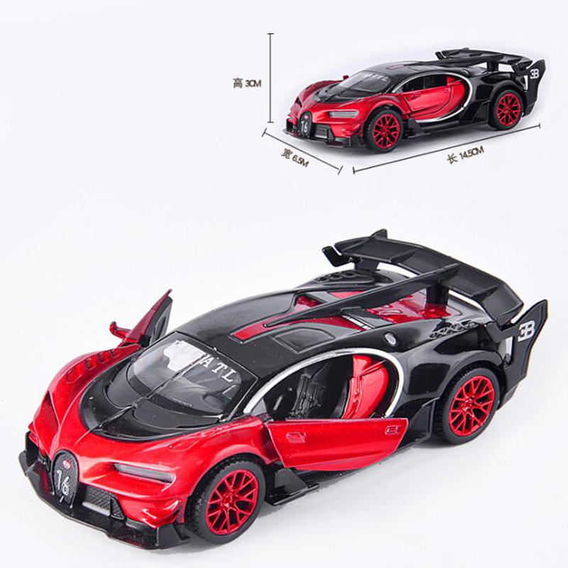 14.5CMMetal Alloy 1:32 Scale classic Bugatti Veyron GT Auto Car Model Pull back Model Diecast Vehicles Toy For kid gift collect image