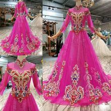 Торжественное платье ярко розовый цвет вышивать длина до пола