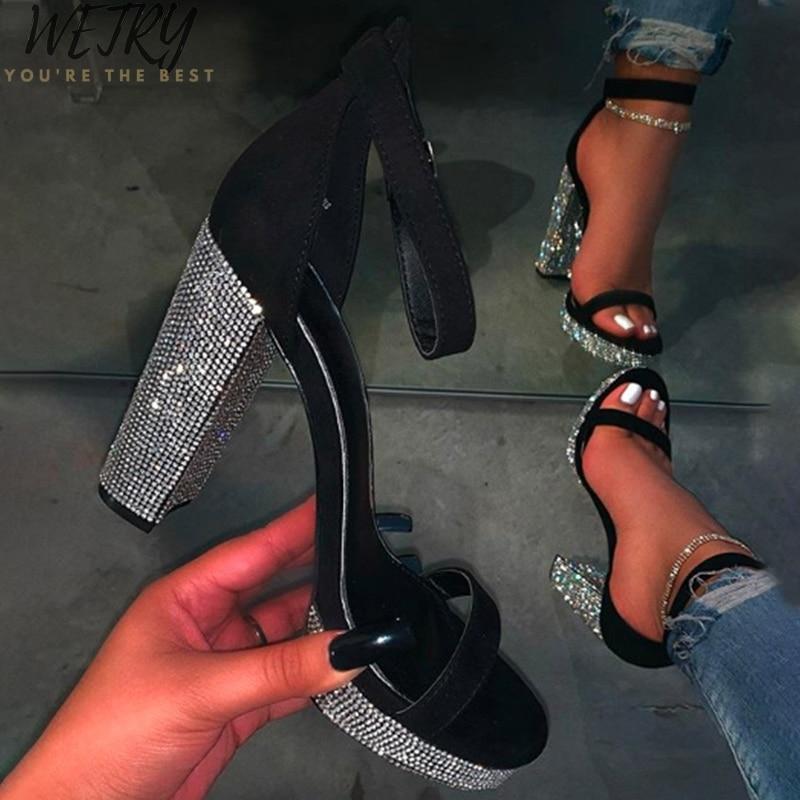 Women Summer Sandals Bling Woman Ladies Buckle Slingbacks Open Toe Sandals Feamle Fashion Casual Platform Shoes 2020