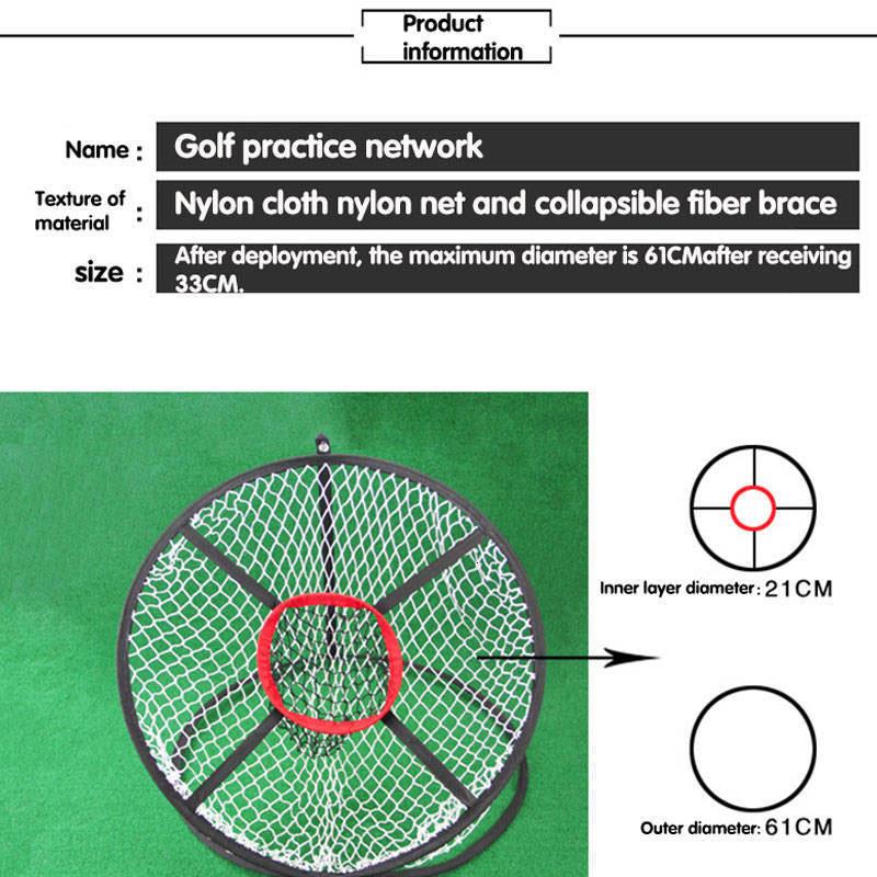 Купить с кэшбэком Golf Training Assisted Golf Supplies Indoor Outdoor Golf Pitching Cage Golf Chipping Net Training AidsPractice Easy Net
