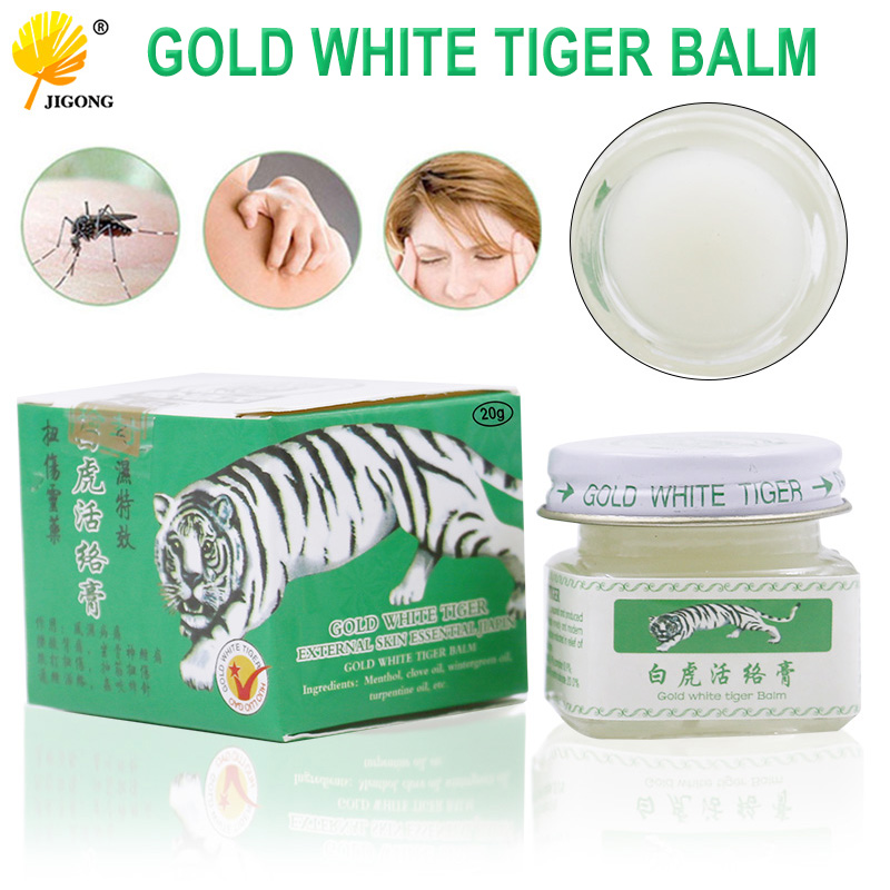 Vietnam 20g white tiger balm for Headache Toothache Stomachache baume tiger blanc cold dizziness essential balm