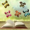 15PC Fee in die Buch Magie Fliegenden Schmetterling Geburtstag Geschenk Squishy Spielzeug Uhrwerk Angetrieben Schmetterling Kinder Beste Überraschung Spielzeug