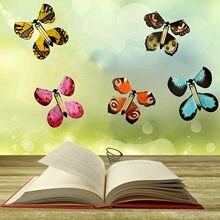 15pc fada no livro magia voando borboleta presente de aniversário brinquedos mole clockwork alimentado borboleta crianças melhor surpresa brinquedo