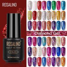ROSALIND – vernis à ongles Gel, diamant, paillettes, pour Nail Art, UV, à trempage, manucure, 7ML