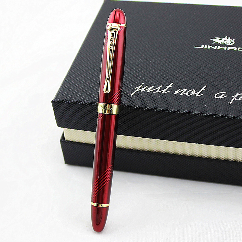 JINHAO X450 Luxurious Spiral Pearl Red Business 0.5MM Nib fountain Pen New office Business school writing pen image