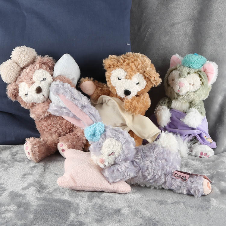 Stella Rabbit Duffy Shirley Sleep Lean Over Plush Toys Birthday Gift 4kinds WJ01