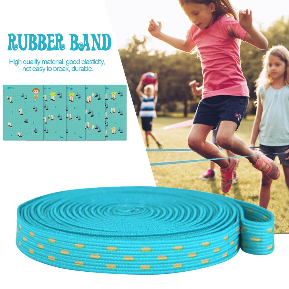 3M Portable Chinese Circle Jump Rope Rubber Band Outdoor Game Team Training Red Chinese Jump Rope Circle For Kid Adult
