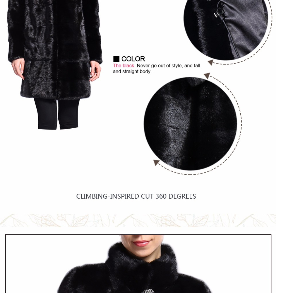 Real Fur Coat Mink Women Winter Natural Fur Mink Coats And Jackets Female Long Warm Vintage Women Clothes 2019 Plus Size 6XL 7XL 79
