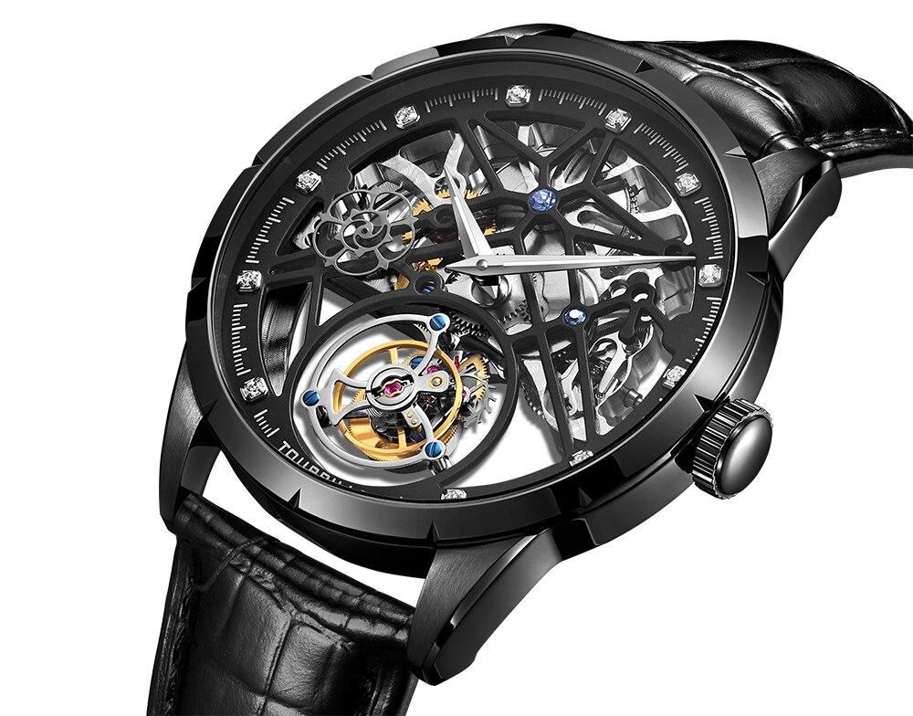 Super New Model GUANQIN Original Tourbillon business men watch top brand luxury Skeleton Sapphire  clock men Relogio Masculino 9