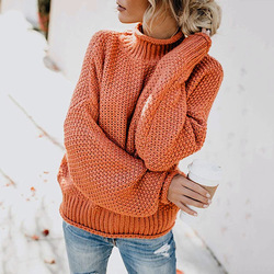 DANJEANER New Turtleneck Sweater Women Solid Casual Knitted Pullovers Fashion 2019 Female Warm Oversize Sweaters Tops for Women 3