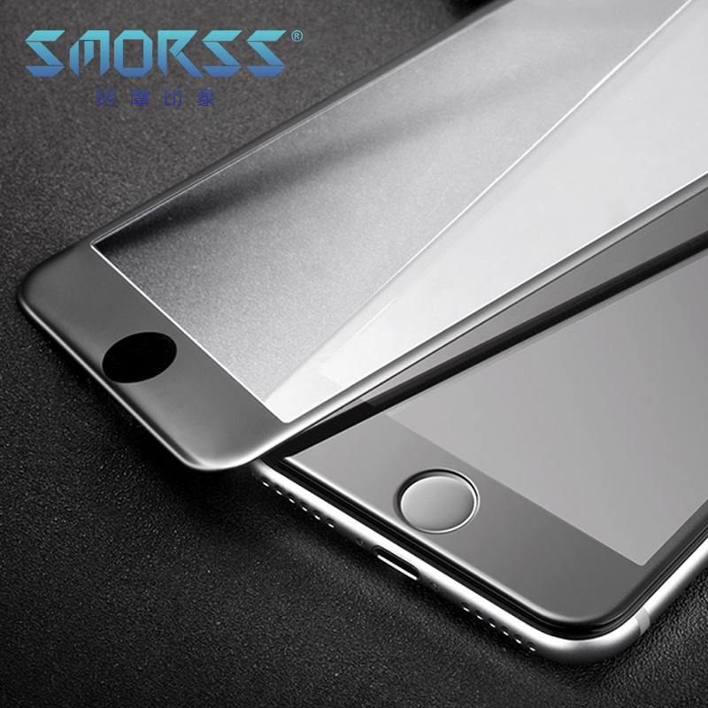 SMORSS 2PCS 3D Soft Edge Tempered Glass for iphone 7 Phone Screen Protector Carbon Fiber Full Coverage HD Protection Film