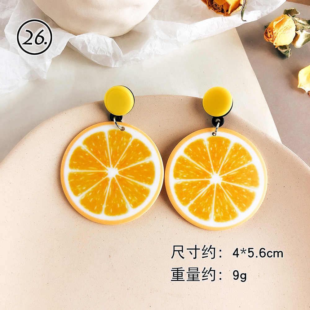 หลาย 34 สไตล์ฤดูร้อนสีเหลืองเกาหลี Handmade ฟางสานหวาย Braid Drop ต่างหูแฟชั่นเรขาคณิตต่างหูยาว