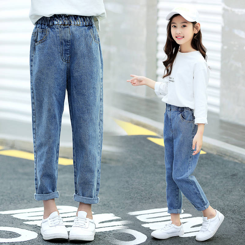 Children's Clothing Girls Jeans 2020 New Spring And Autumn Children's Trousers Fashion Wild Casual Loose Children Jeans