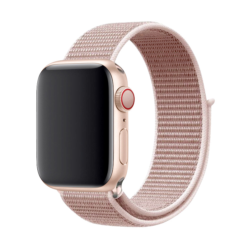 Sport Loop Nylon Apricot Band 44mm 40mm For Apple Watch 5/4 Fabric Strap 42mm 38mm For Iphone Series 3/2/1