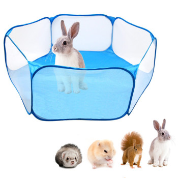 Pet Playpen Portable Pop Open Indoor / Outdoor Small Animal Cage Game Playground Fence for Hamster Chinchillas Guinea Pigs