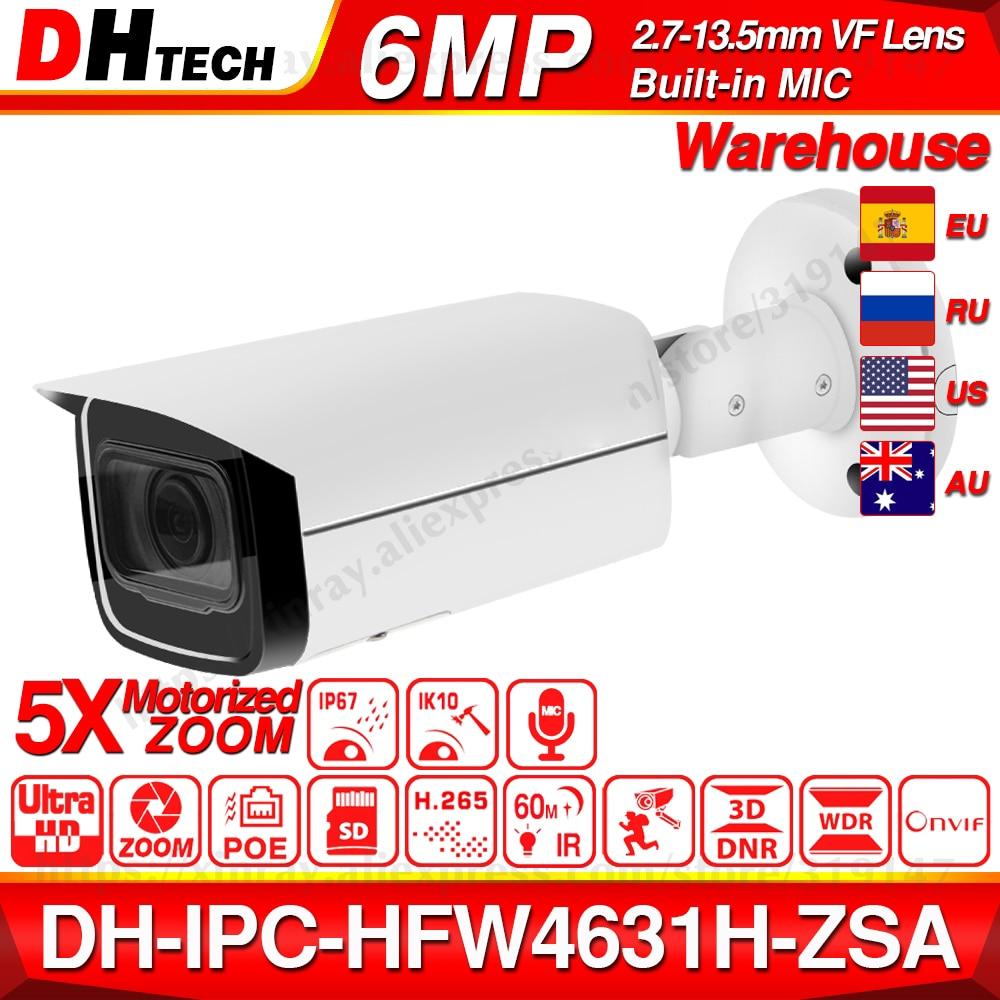 Dahua IPC-HFW4631H-ZSA 6MP IP Camera 2.7~13.5mm 5X Zoom VF Lens Upgrade From IPC-HFW4431R-Z Built-in MiC SD Card Slot PoE Camera