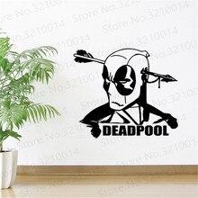 Deadpool Wall Decal Marvel Comics Superhero Movie Vinyl Sticker Cinema Art Design Kids Room Wallpaper PW298