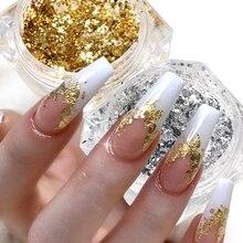 Manicure-Decor-Accessories Irregular-Sticker Paillettes-Art Nails Chrome-Powder Sequins